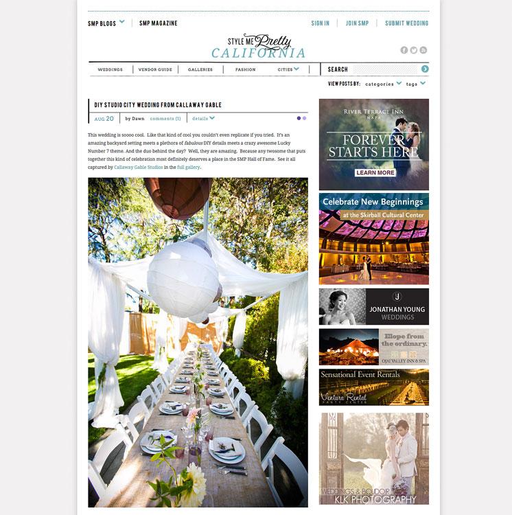 California DIY Wedding by Callaway Gable is on Style Me Pretty