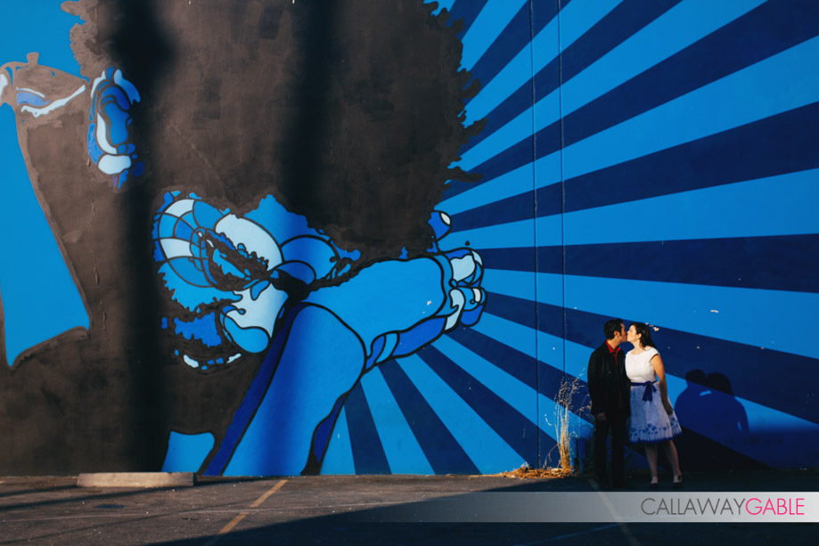 Hip and Colorful Engagement Photos by Callaway Gable in Culver City