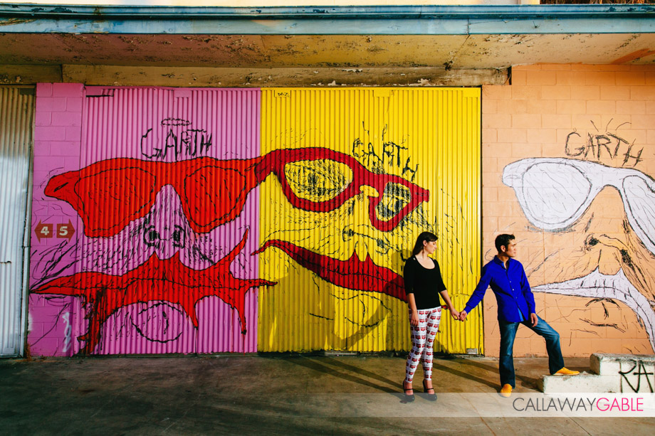 Hip Engagement Photos by Callaway Gable in Culver City