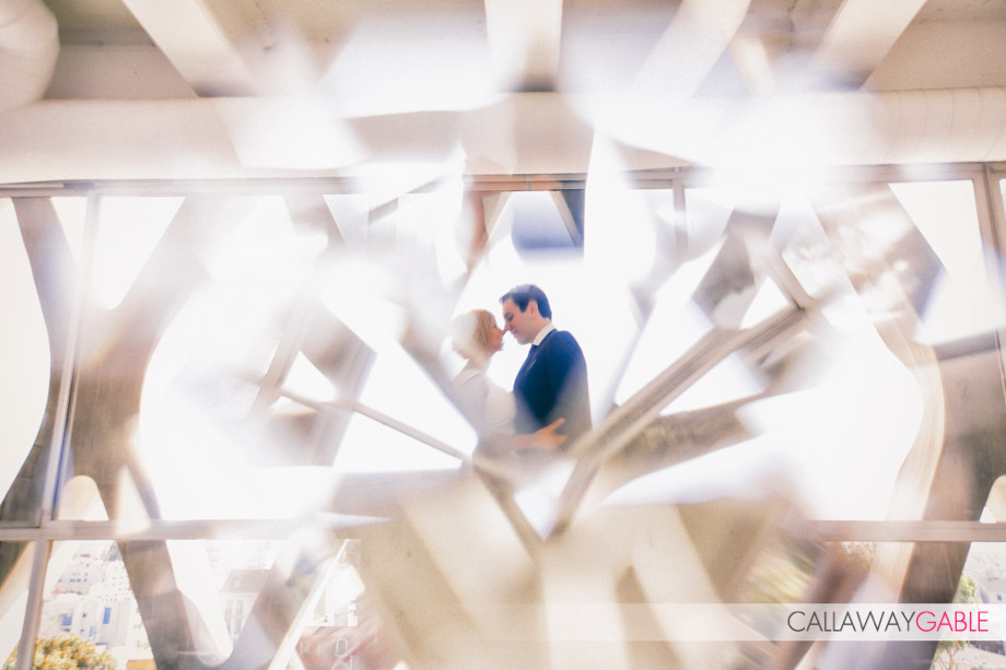 Artsy Engagement Photos at American Cement Building in downtown Los Angeles
