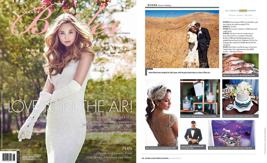 Jordan Farmar Wedding in Modern Luxury Brides Magazine