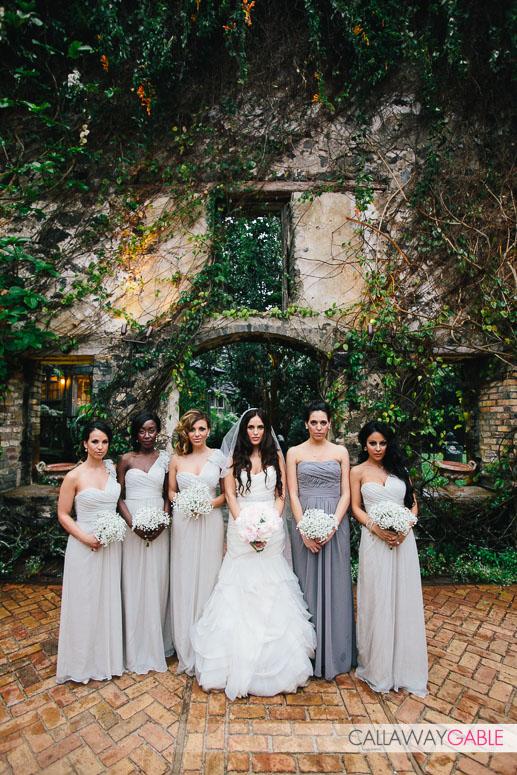 Bridal Party Portraits at Haiku Mill Wedding