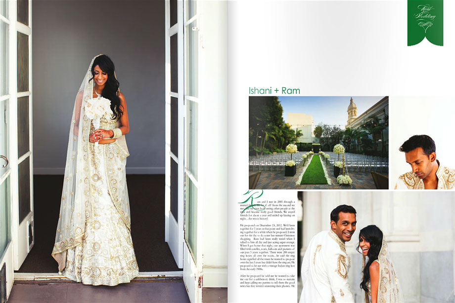 South Asian Vibiana Wedding in South Asian Bride Magazine