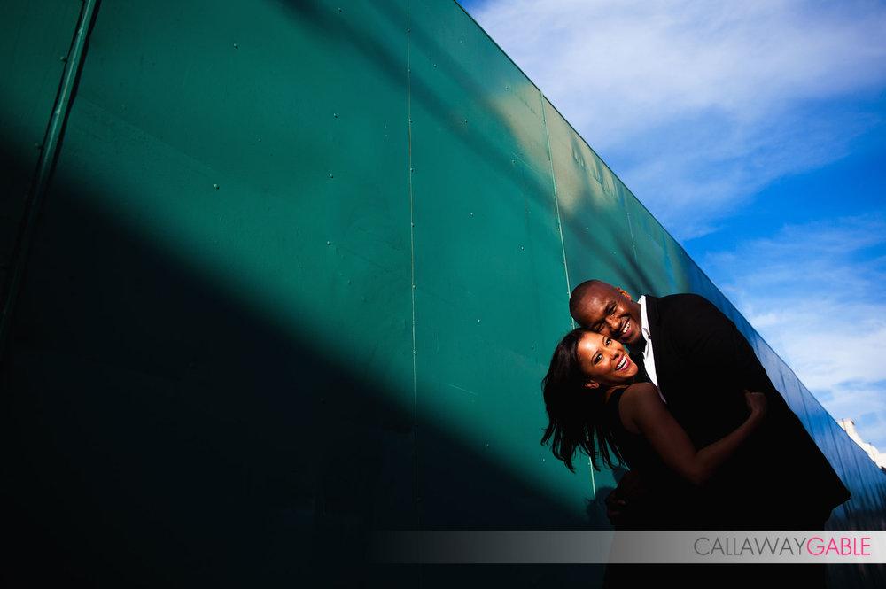 Fun Engagement Photo in downtown San Pedro