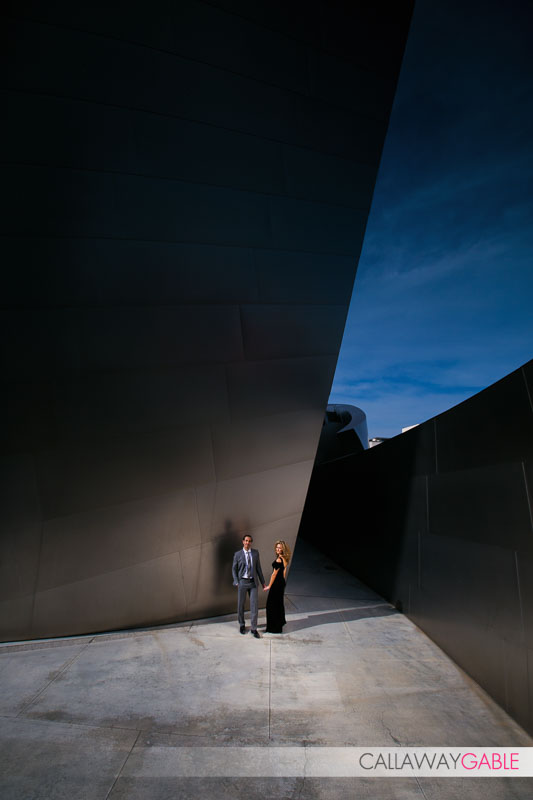 Epic Wide engagement photo at Disney Center