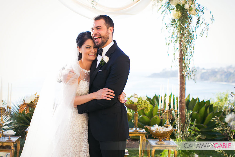 Just married at the Ritz Carlton Laguna Niguel