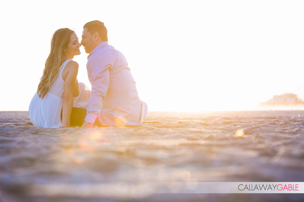 Romantic Santa Monica Beach Engagement Photo
