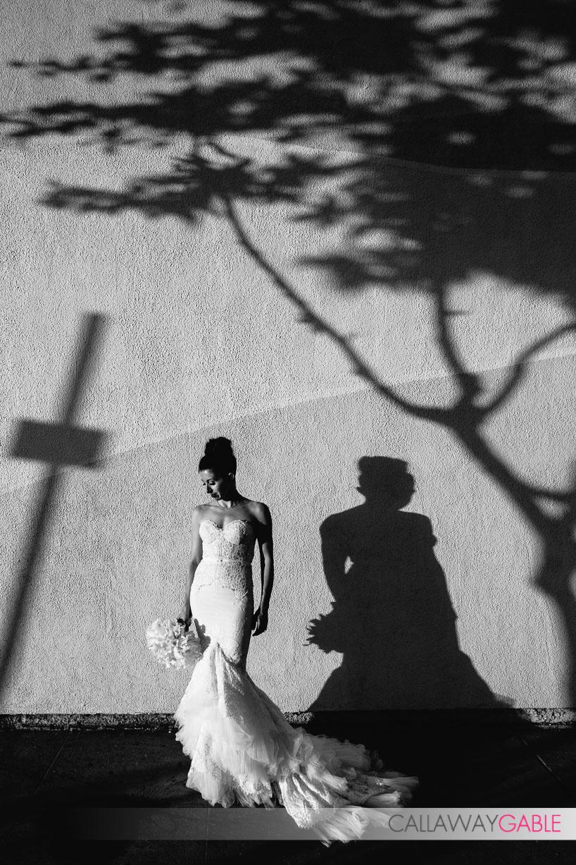 Bridal portrait on La Cienega in Culver City