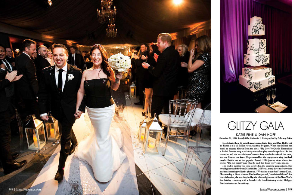 New Years Eve Wedding in Inside Weddings Magazine Page 4