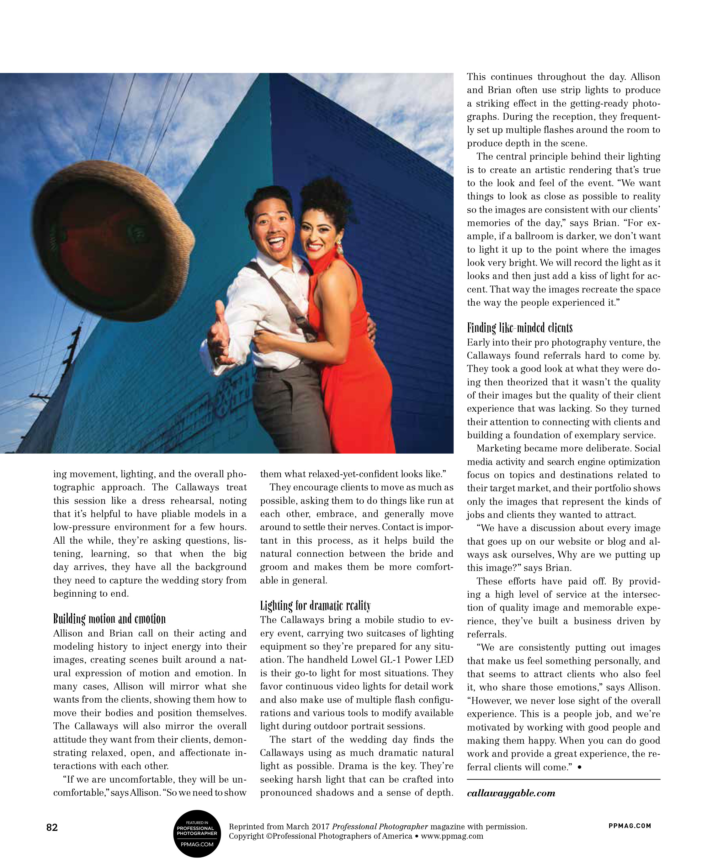 Callaway Gable Interview in Professional Photographer Magazine - Page 3