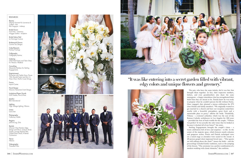 Purple wedding in Inside Weddings Magazine