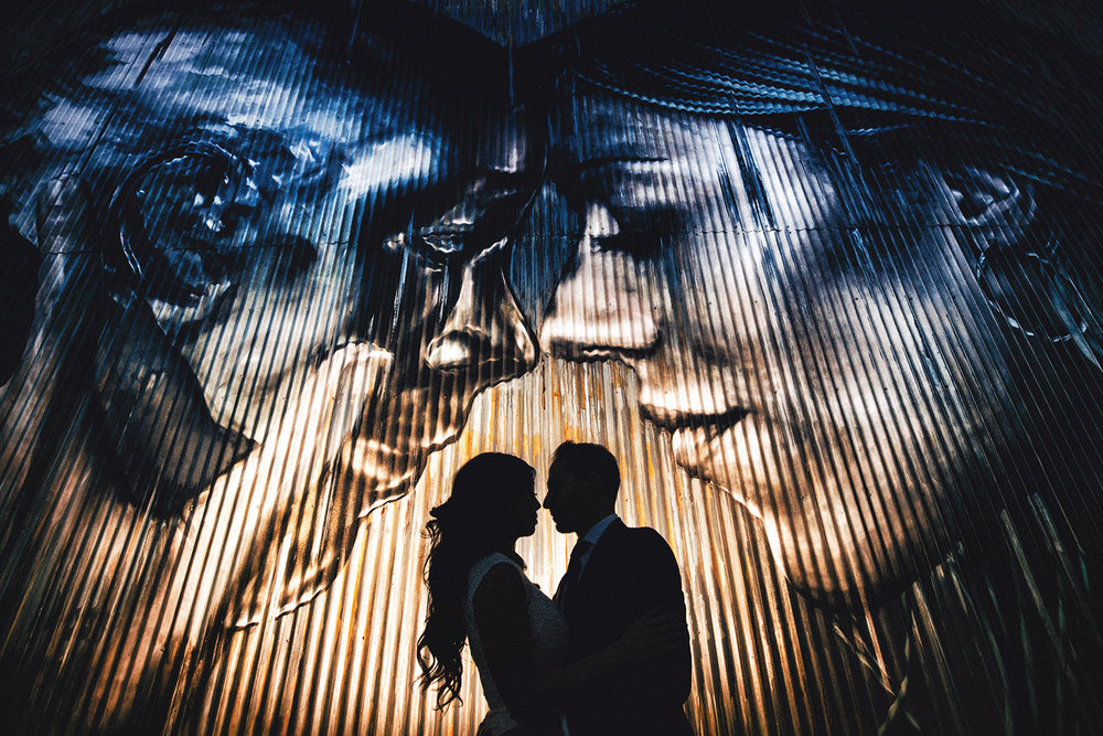 Los Angeles Arts District Engagement Photo in front of Christina Angelina Mural