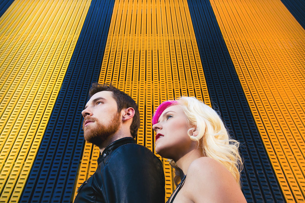 Fashion inspired engagement shoot in downtown Los Angeles