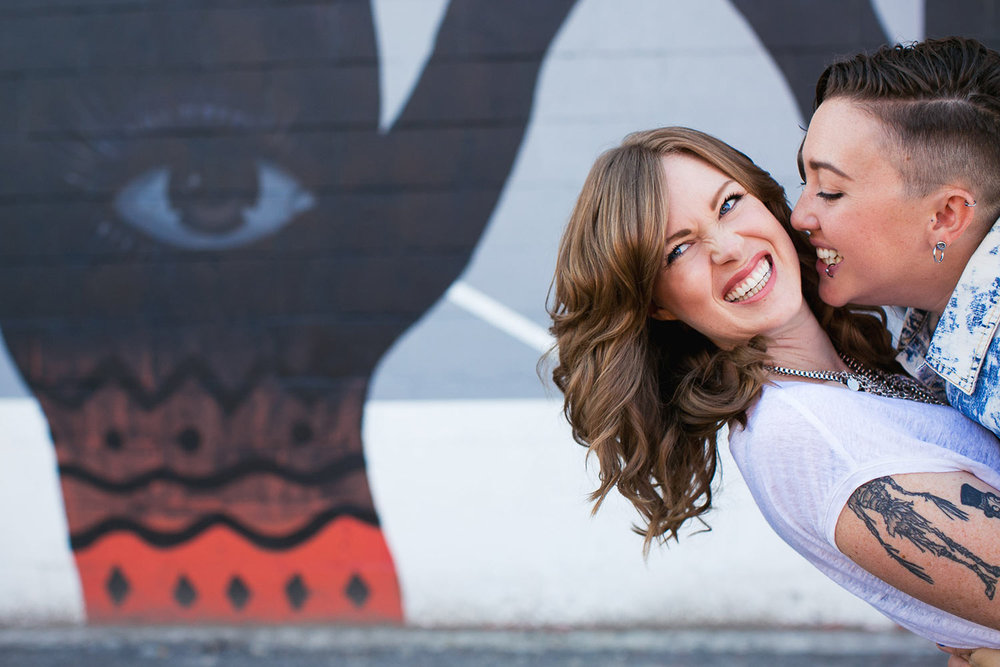 Same Sex Arts District Los Angeles Engagement Session