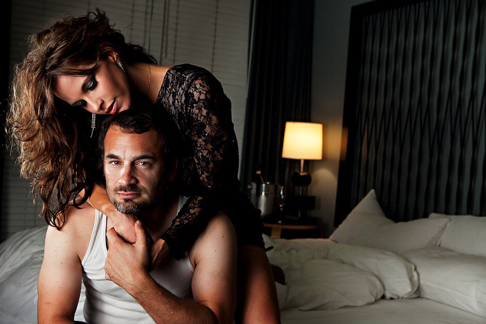 Sexy Hotel Room Engagement photo in a hotel room