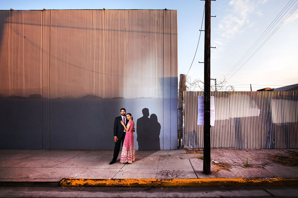 Los Angeles Indian engagement session photo