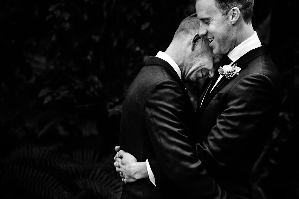 Los Angeles Same sex wedding Grooms in love