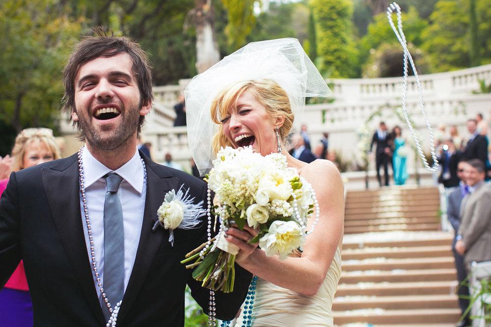 Wattles Mansion wedding ceremony in Los Angeles