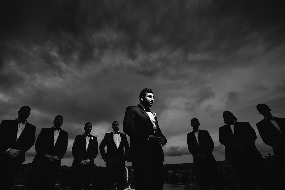 Marriot Marina del Rey Rooftop wedding - amazing groomsmen photo