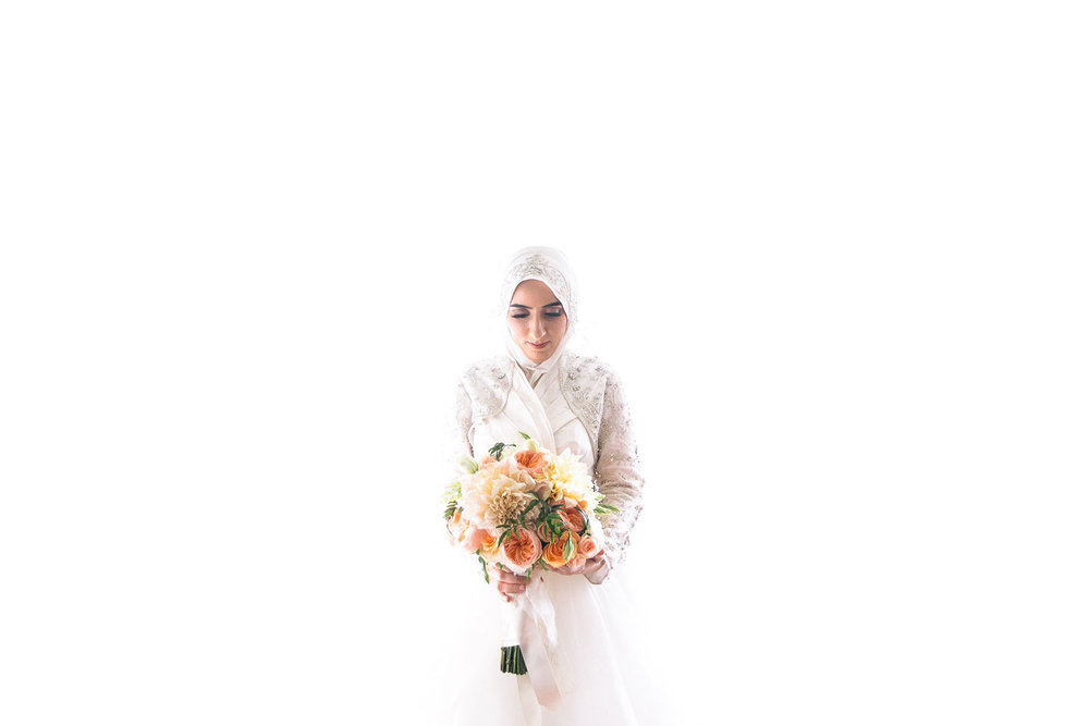 Beautiful Portrait of Muslim Bride at her Los Angeles wedding