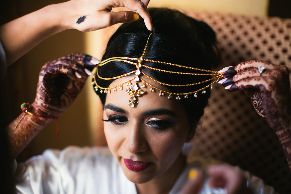 Langham Pasadena Wedding Indian Bride Getting Ready