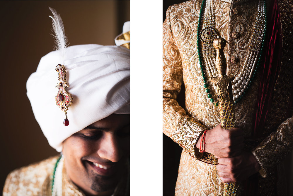 Langham Pasadena Wedding Indian Groom Getting Ready
