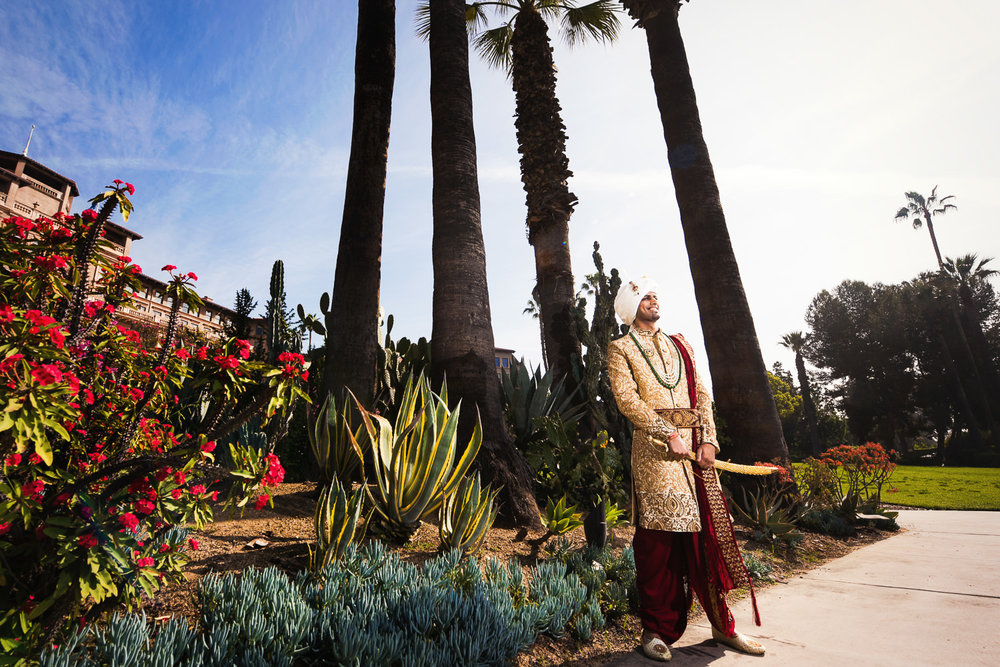 Langham Pasadena Wedding Indian Groom