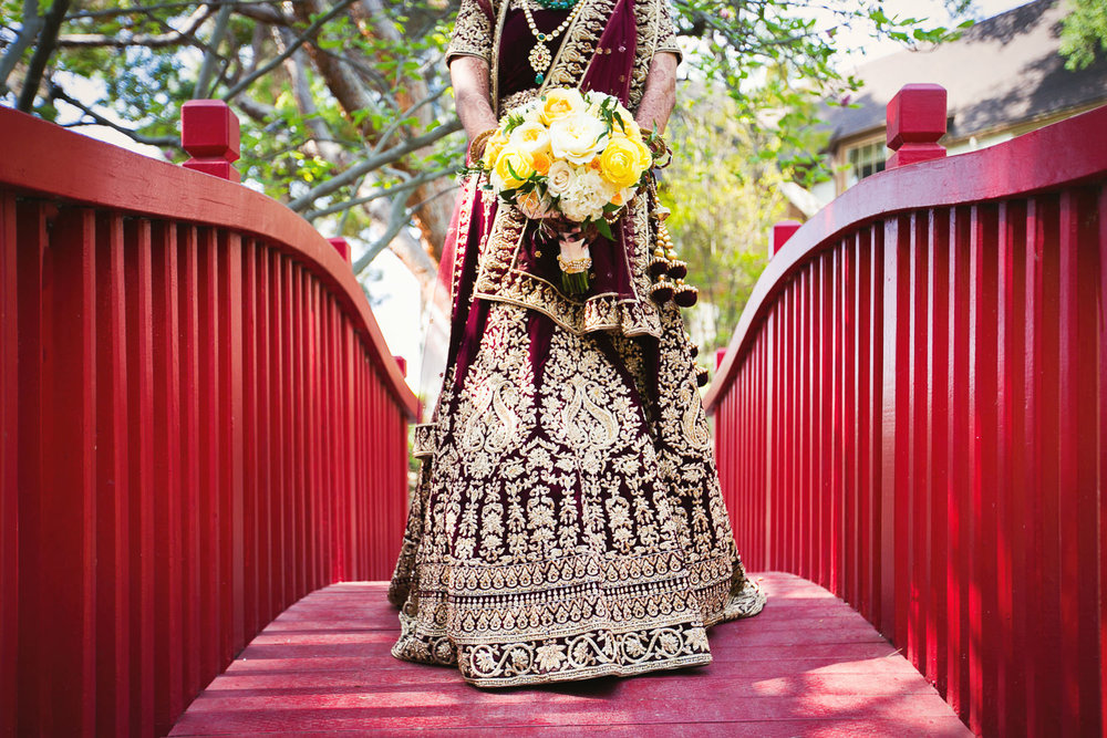 Langham Pasadena Wedding Indian Bride