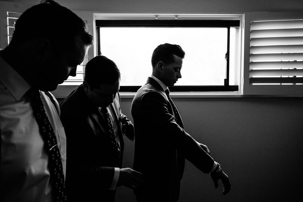 Palm Springs Wedding Groom Preparing For Ceremony
