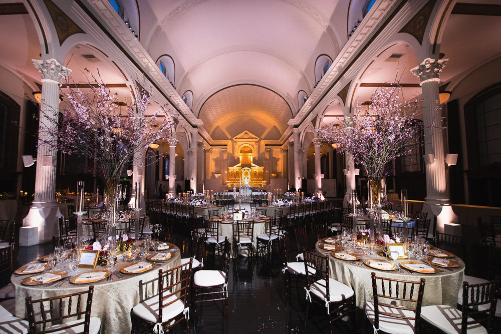 Vibiana Wedding Photographs of beautiful reception