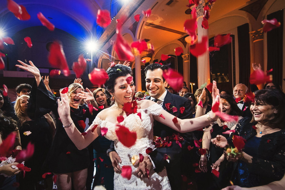 Vibiana Wedding Photographs of Persian Wedding Reception