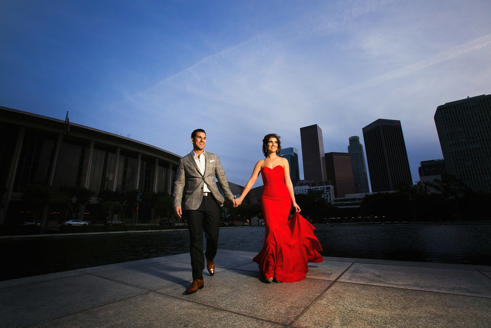 Downtown La Engagement by Callaway Gable at the DWP Building