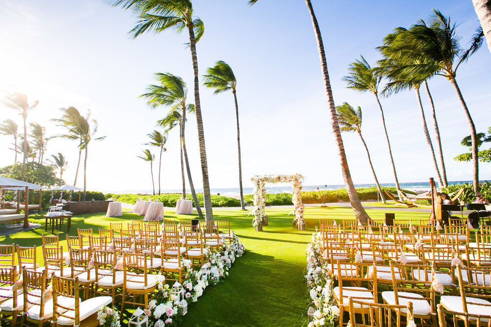 Outdoor Wedding Ceremony at the Four Seasons Hualalai