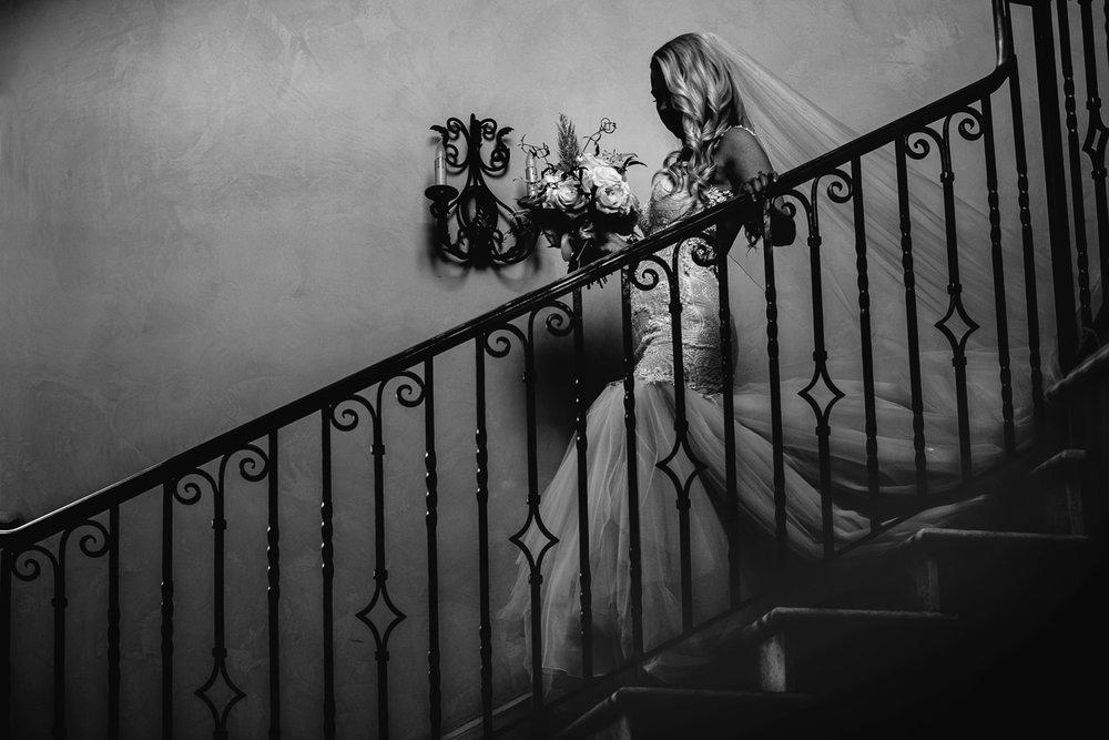 Black and White Portrait of Bride at Malibu Rocky Oaks