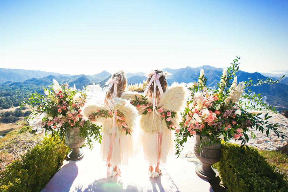 Custom Made Angel wings for kids at wedding
