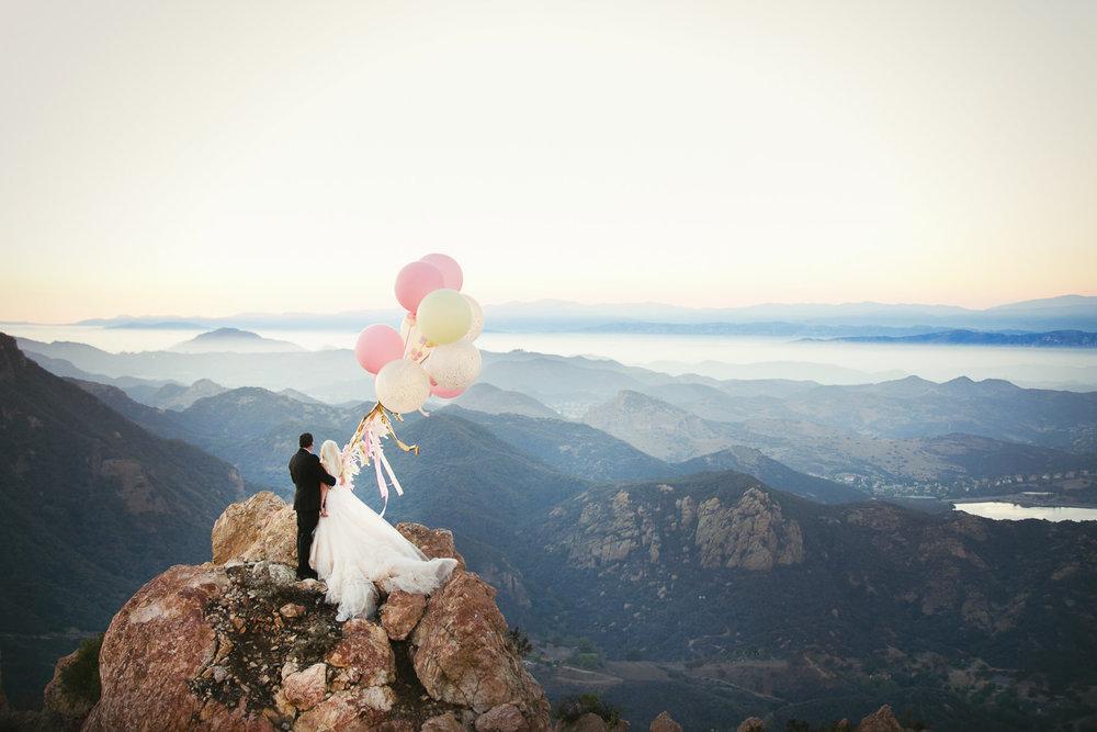 Balloons are a great idea for Malibu Rocky Oaks Wedding Photos