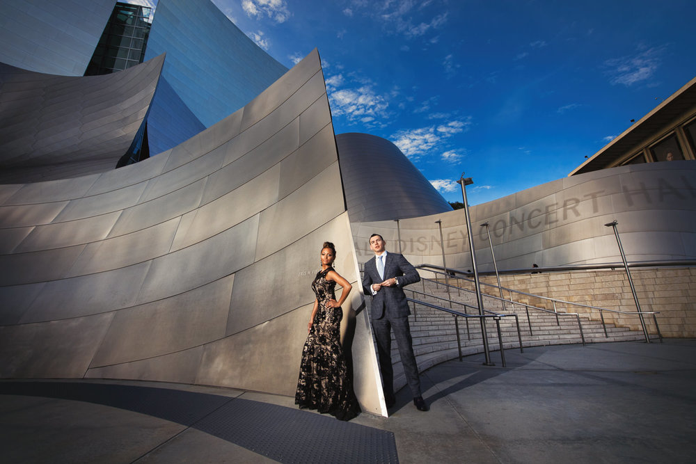 Disney Hall Engagement Photo