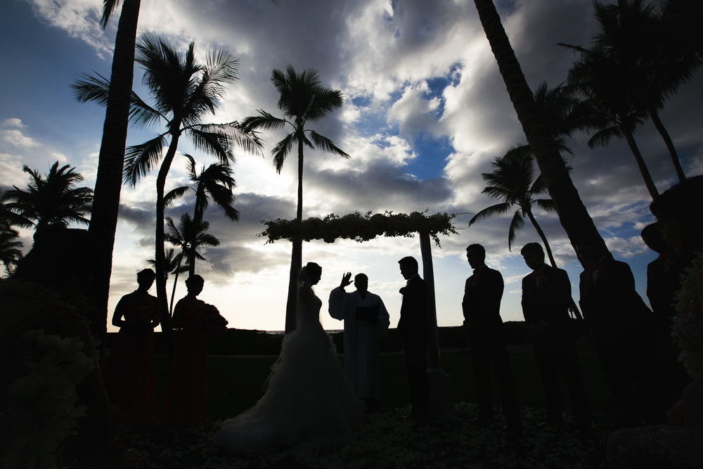 Gorgeous Ceremony at Four Seasons Hualalai Wedding