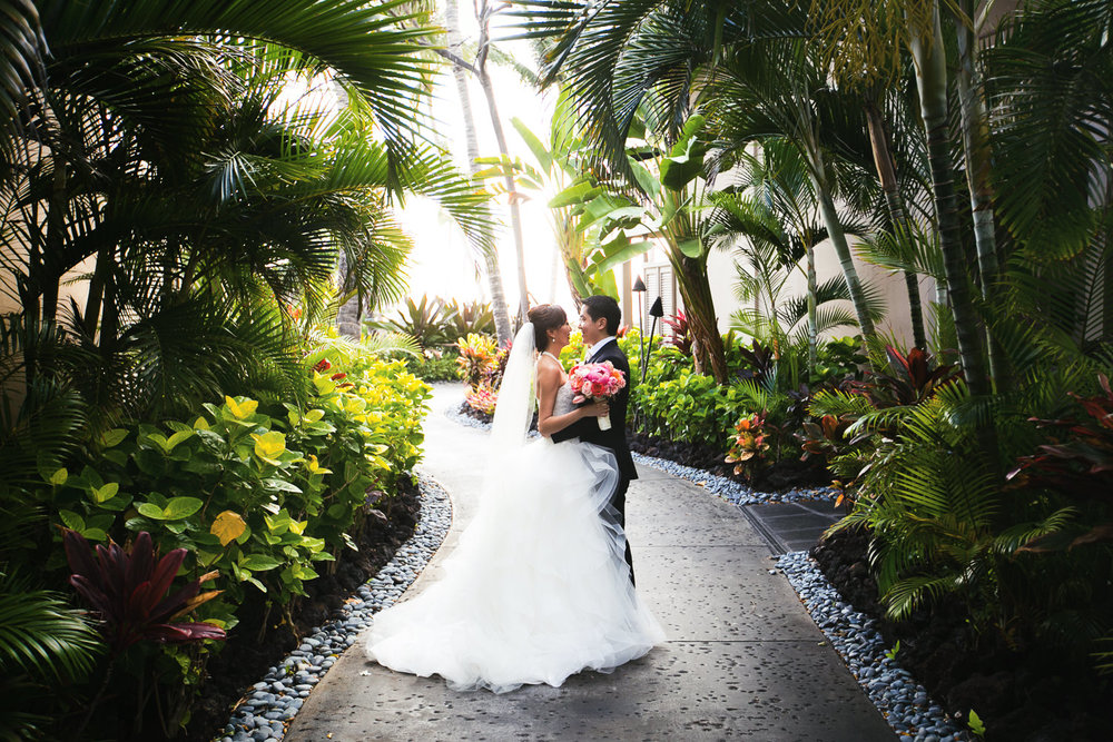 Four Seasons Hualalai is the most beautiful wedding venue in Hawaii in our opinion