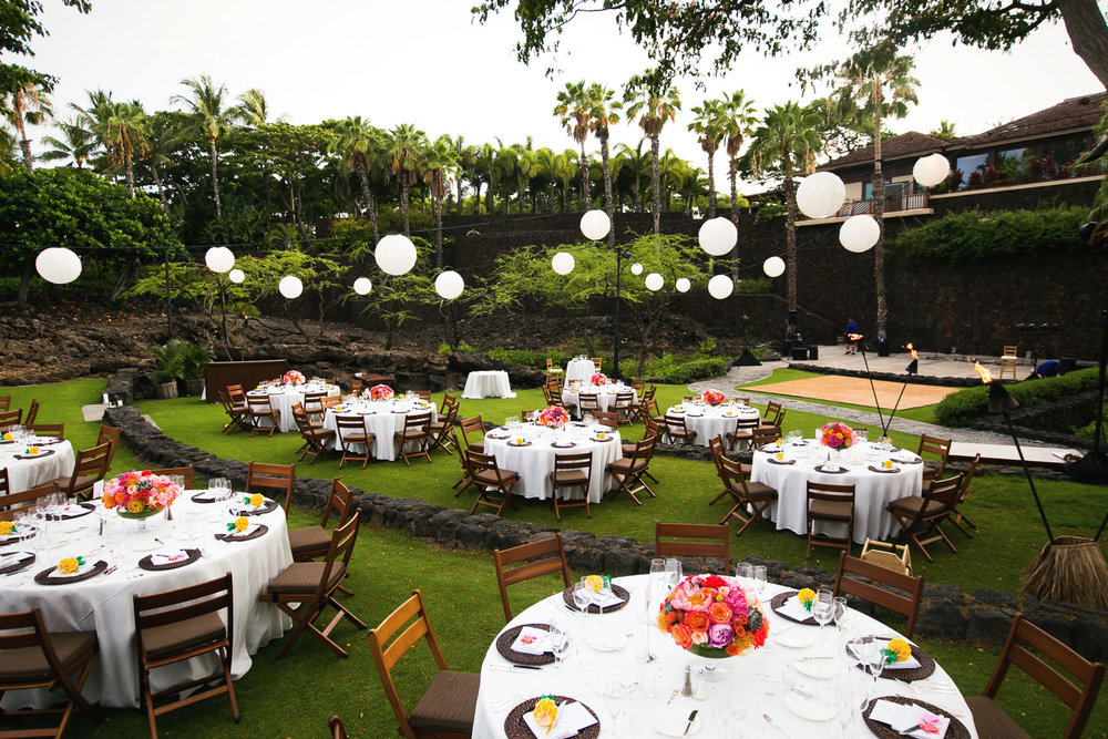 Gorgeous Wedding reception at Four Seasons Hualalai