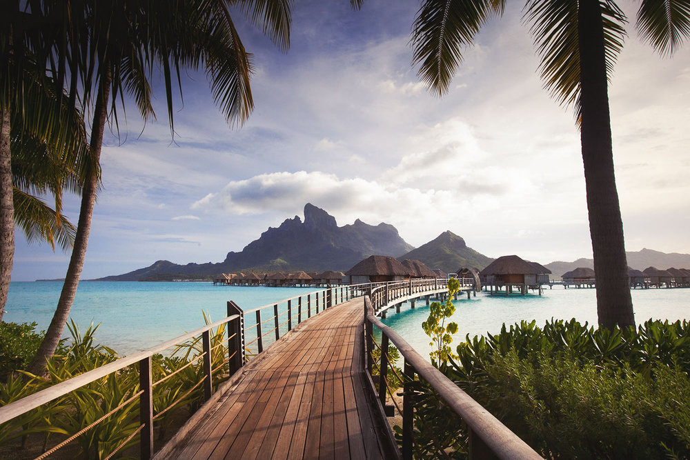 Four Seasons Bora Bora path to Over Water Bungalows