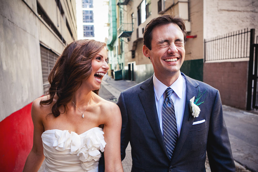 Downtown Los Angeles wedding photo