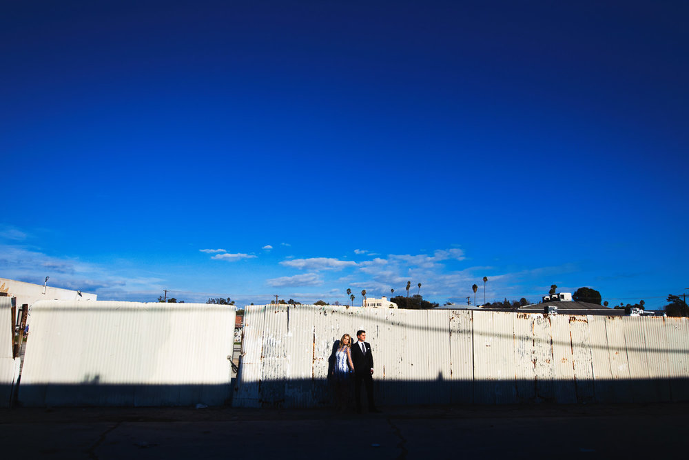 Arts District Engagement With Hip Young Couple