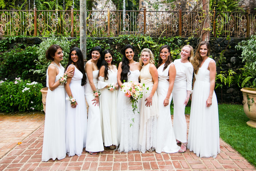 Bridesmaids at Haiku Mill Wedding in Maui Hawaii