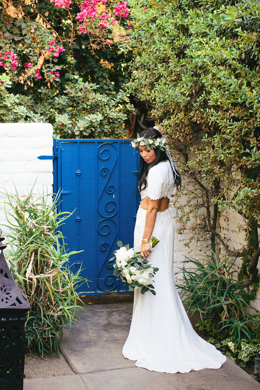 Parker Palm Springs Wedding - Reem Acra Dress
