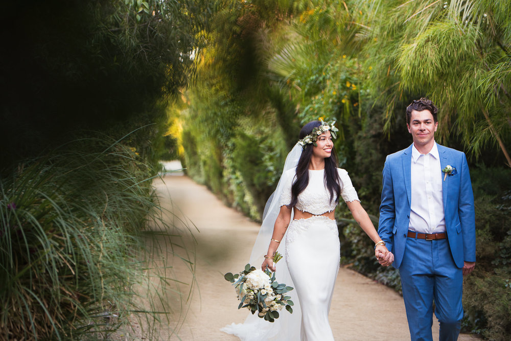 Parker Palm Springs Wedding - Hand in Hand Couple