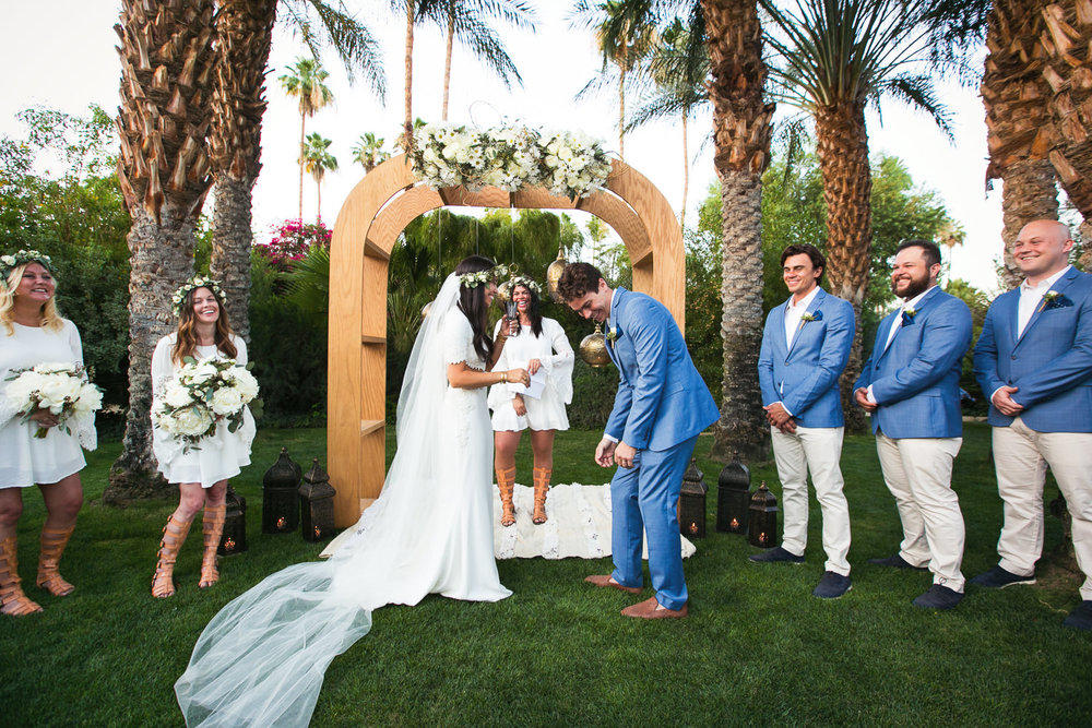 Parker Palm Springs Wedding - Laughing Couple