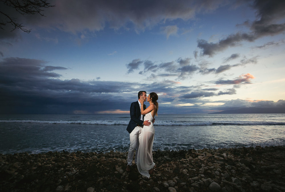 Incredible views at this Olowalu Plantation House wedding