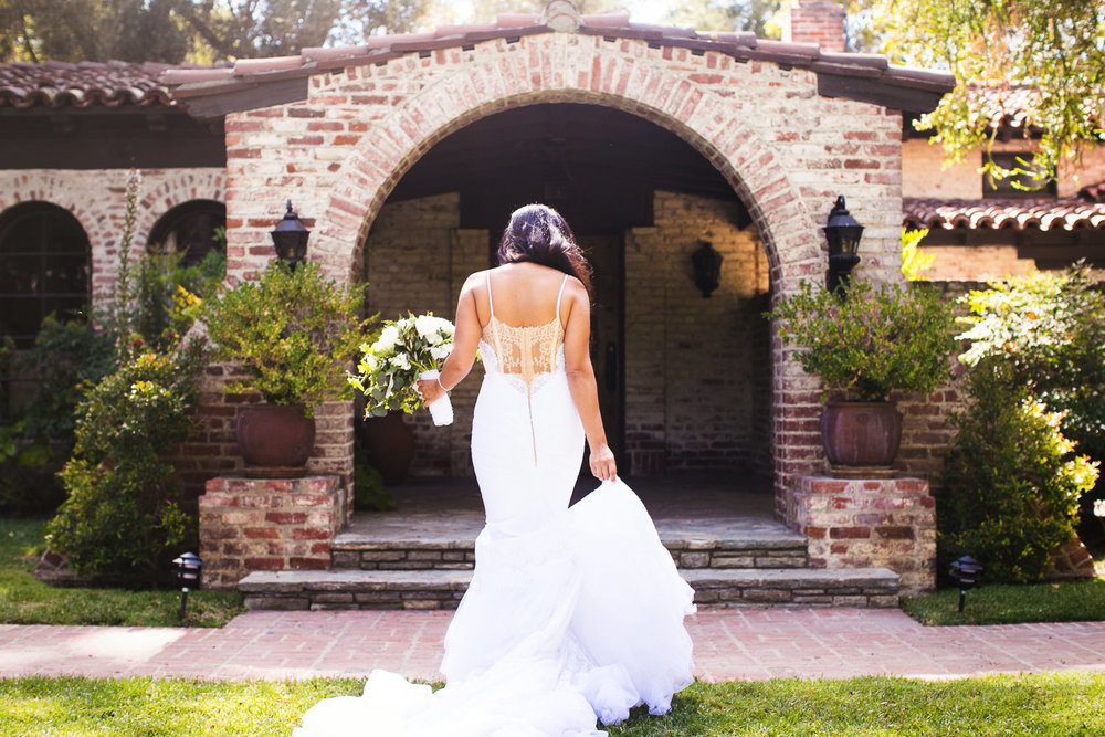 Hummingbird Nest Ranch Wedding - Wedding Dress From Behind