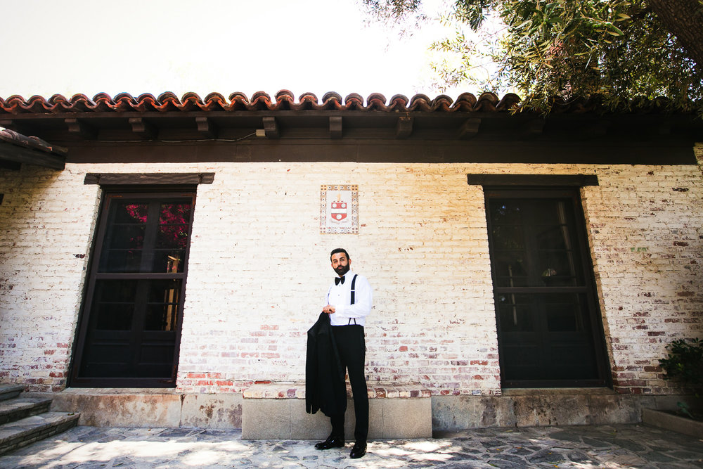 Hummingbird Nest Ranch Wedding - Persian Groom Portrait